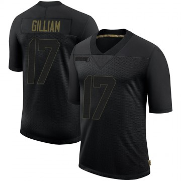 Youth Nike Pittsburgh Steelers Joe Gilliam Black 2020 Salute To Service Jersey - Limited