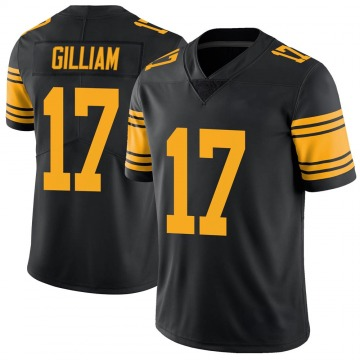 Youth Nike Pittsburgh Steelers Joe Gilliam Black Color Rush Jersey - Limited