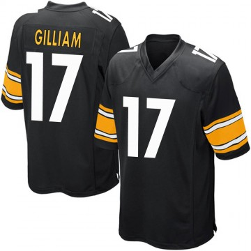 Youth Nike Pittsburgh Steelers Joe Gilliam Black Team Color Jersey - Game