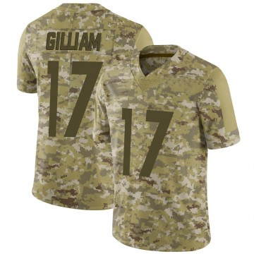 Youth Nike Pittsburgh Steelers Joe Gilliam Camo 2018 Salute to Service Jersey - Limited