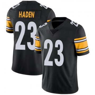 Youth Nike Pittsburgh Steelers Joe Haden Black 100th Vapor Jersey - Limited