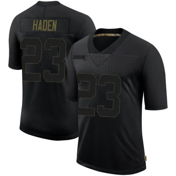 Youth Nike Pittsburgh Steelers Joe Haden Black 2020 Salute To Service Jersey - Limited
