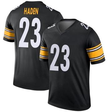 Youth Nike Pittsburgh Steelers Joe Haden Black Jersey - Legend