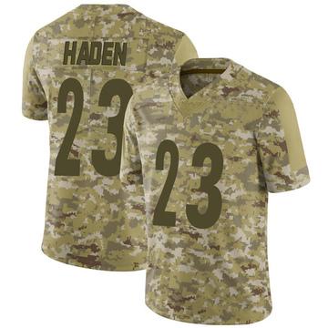 Youth Nike Pittsburgh Steelers Joe Haden Camo 2018 Salute to Service Jersey - Limited