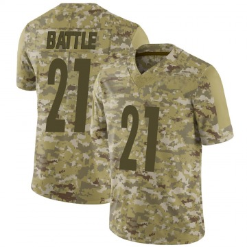 Youth Nike Pittsburgh Steelers John Battle Camo 2018 Salute to Service Jersey - Limited
