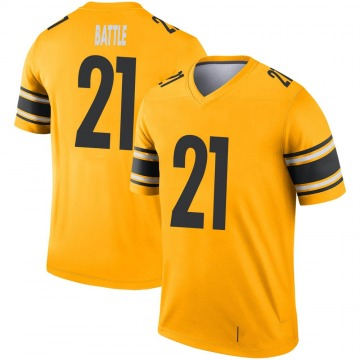 Youth Nike Pittsburgh Steelers John Battle Gold Inverted Jersey - Legend