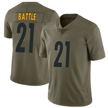 Youth Nike Pittsburgh Steelers John Battle Green 2017 Salute to Service Jersey - Limited