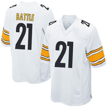 Youth Nike Pittsburgh Steelers John Battle White Jersey - Game