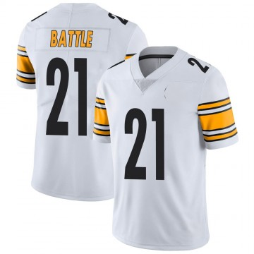 Youth Nike Pittsburgh Steelers John Battle White Vapor Untouchable Jersey - Limited