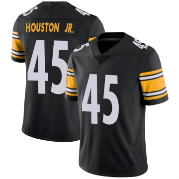 Youth Nike Pittsburgh Steelers John Houston Jr. Black 100th Vapor Jersey - Limited
