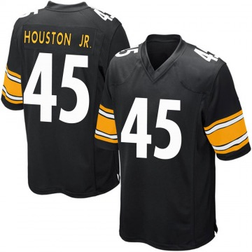 Youth Nike Pittsburgh Steelers John Houston Jr. Black Team Color Jersey - Game