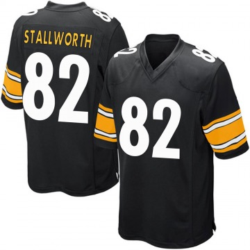 Youth Nike Pittsburgh Steelers John Stallworth Black Team Color Jersey - Game