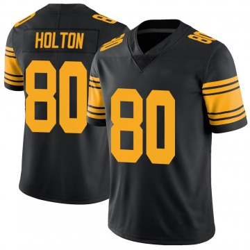Youth Nike Pittsburgh Steelers Johnny Holton Black Color Rush Jersey - Limited