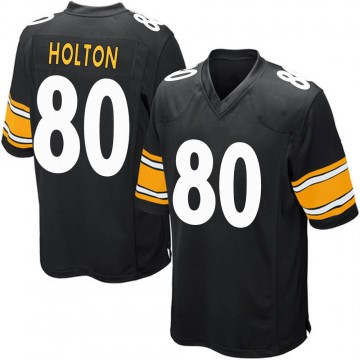 Youth Nike Pittsburgh Steelers Johnny Holton Black Team Color Jersey - Game