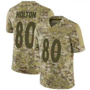 Youth Nike Pittsburgh Steelers Johnny Holton Camo 2018 Salute to Service Jersey - Limited