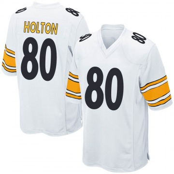 Youth Nike Pittsburgh Steelers Johnny Holton White Jersey - Game