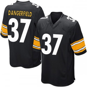 Youth Nike Pittsburgh Steelers Jordan Dangerfield Black Team Color Jersey - Game