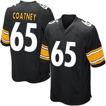 Youth Nike Pittsburgh Steelers Josiah Coatney Black Team Color Jersey - Game