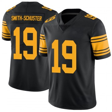Youth Nike Pittsburgh Steelers JuJu Smith-Schuster Black Color Rush Jersey - Limited