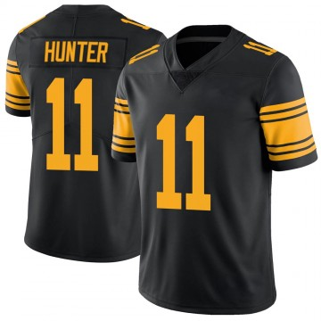 Youth Nike Pittsburgh Steelers Justin Hunter Black Color Rush Jersey - Limited