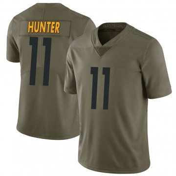 Youth Nike Pittsburgh Steelers Justin Hunter Green 2017 Salute to Service Jersey - Limited