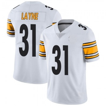Youth Nike Pittsburgh Steelers Justin Layne White Vapor Untouchable Jersey - Limited