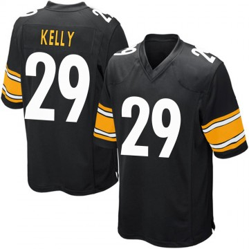 Youth Nike Pittsburgh Steelers Kam Kelly Black Team Color Jersey - Game