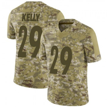 Youth Nike Pittsburgh Steelers Kam Kelly Camo 2018 Salute to Service Jersey - Limited