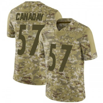 Youth Nike Pittsburgh Steelers Kameron Canaday Camo 2018 Salute to Service Jersey - Limited