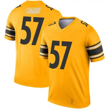 Youth Nike Pittsburgh Steelers Kameron Canaday Gold Inverted Jersey - Legend