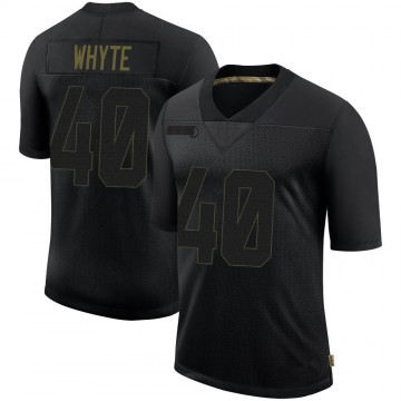 Youth Nike Pittsburgh Steelers Kerrith Whyte Jr. Black 2020 Salute To Service Jersey - Limited