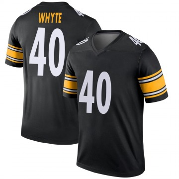 Youth Nike Pittsburgh Steelers Kerrith Whyte Jr. Black Jersey - Legend