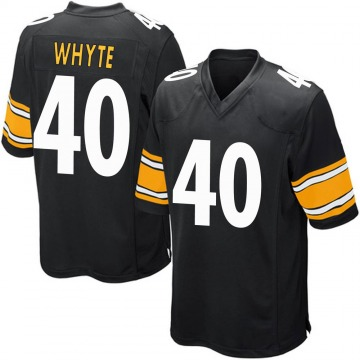 Youth Nike Pittsburgh Steelers Kerrith Whyte Jr. Black Team Color Jersey - Game