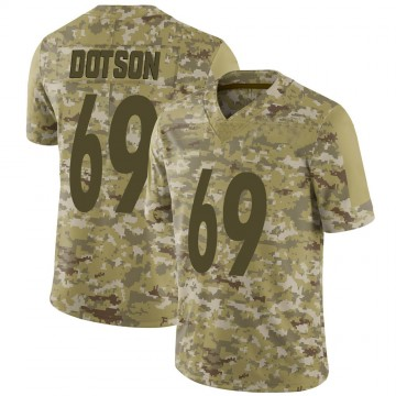 Youth Nike Pittsburgh Steelers Kevin Dotson Camo 2018 Salute to Service Jersey - Limited