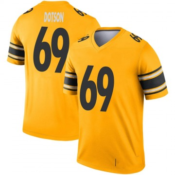 Youth Nike Pittsburgh Steelers Kevin Dotson Gold Inverted Jersey - Legend