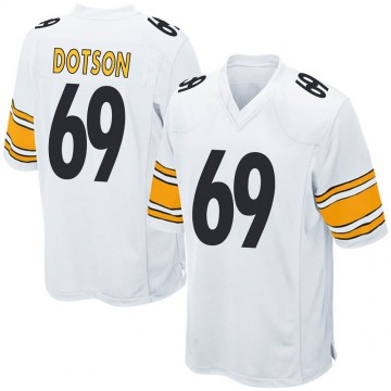Youth Nike Pittsburgh Steelers Kevin Dotson White Jersey - Game