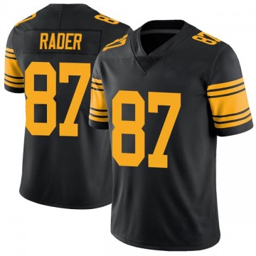 Youth Nike Pittsburgh Steelers Kevin Rader Black Color Rush Jersey - Limited