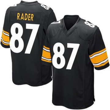 Youth Nike Pittsburgh Steelers Kevin Rader Black Team Color Jersey - Game