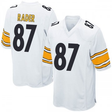 Youth Nike Pittsburgh Steelers Kevin Rader White Jersey - Game