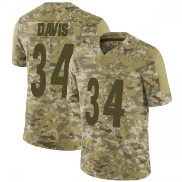 Youth Nike Pittsburgh Steelers Knile Davis Camo 2018 Salute to Service Jersey - Limited