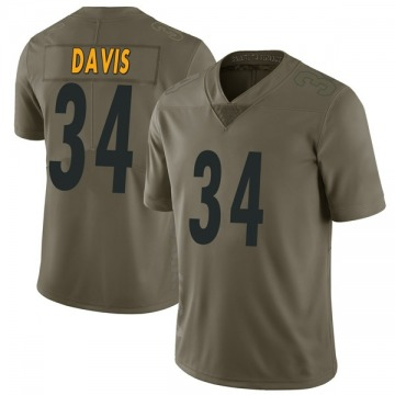 Youth Nike Pittsburgh Steelers Knile Davis Green 2017 Salute to Service Jersey - Limited