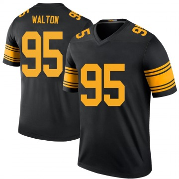 Youth Nike Pittsburgh Steelers L.T. Walton Black Color Rush Jersey - Legend