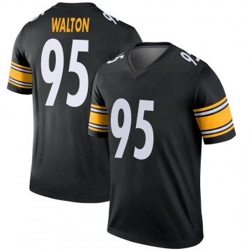 Youth Nike Pittsburgh Steelers L.T. Walton Black Jersey - Legend