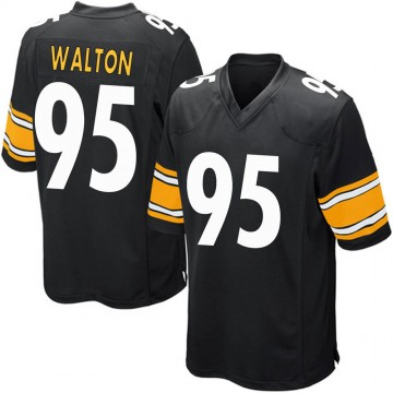 Youth Nike Pittsburgh Steelers L.T. Walton Black Team Color Jersey - Game