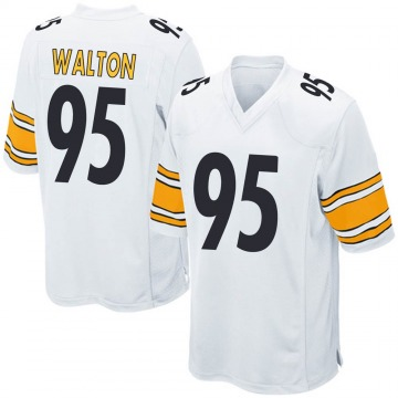 Youth Nike Pittsburgh Steelers L.T. Walton White Jersey - Game