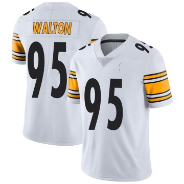 Youth Nike Pittsburgh Steelers L.T. Walton White Vapor Untouchable Jersey - Limited