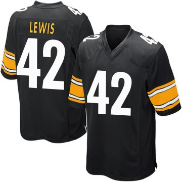 Youth Nike Pittsburgh Steelers Leo Lewis Black Team Color Jersey - Game