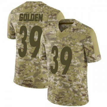 Youth Nike Pittsburgh Steelers Malik Golden Gold Camo 2018 Salute to Service Jersey - Limited