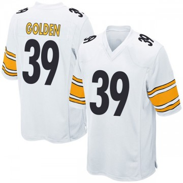 Youth Nike Pittsburgh Steelers Malik Golden Gold White Jersey - Game