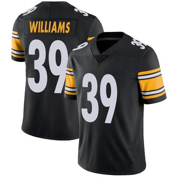Youth Nike Pittsburgh Steelers Malik Williams Black 100th Vapor Jersey - Limited